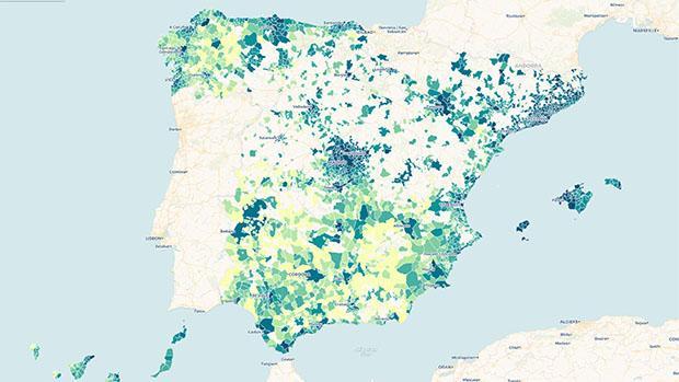 Descubre cuál es la renta media de los municipios de España