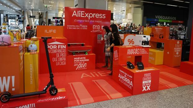 Tienda «pop up» de AliExpress y El Corte Inglés