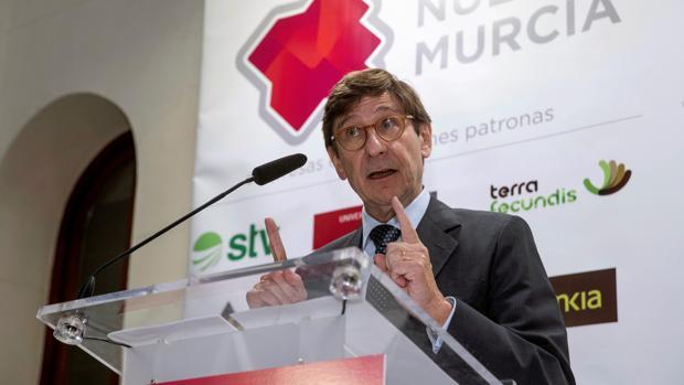 El presidente de Bankia, José Ignacio Goirigolzarri, hoy en Murcia