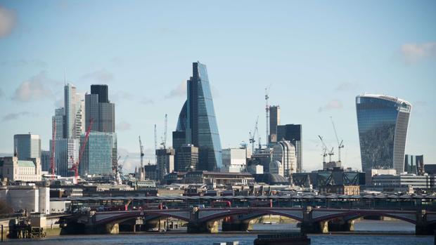 Panorámica de la City, barrio financiero de Londres