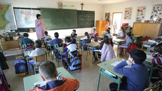 Clases en un colegio concertado