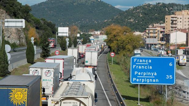 Imagen de la frontera con Francia en La Jonquera