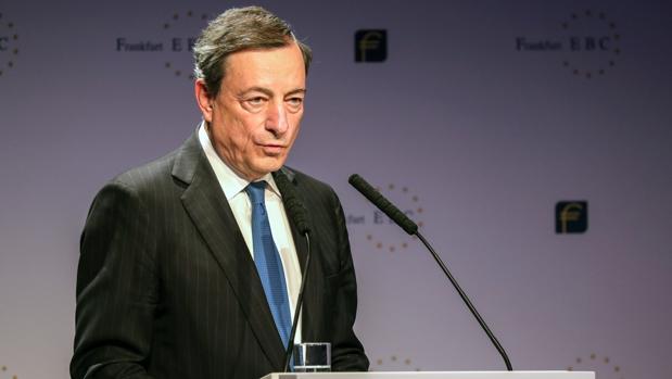 Mario Draghi, presidente del BCE, en una reciente comparecencia