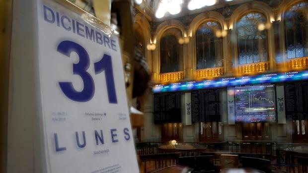 La Bolsa española, durante la última sesión del año