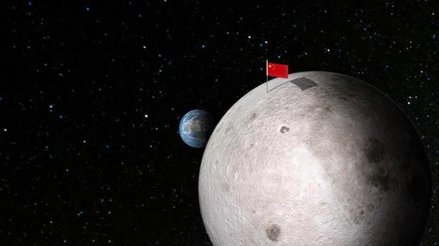 China clava su bandera en la cara oculta de la Luna