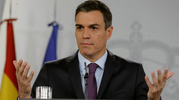 Pedro Sánchez, presidente del Gobierno, durante el último Consejo de Ministros de 2018