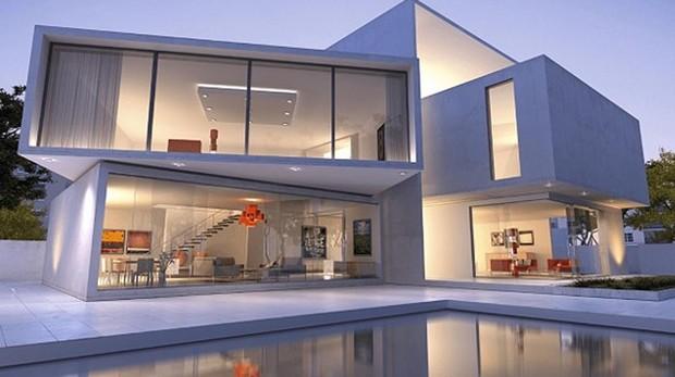 Un ejemplo de vivienda construida a partir de contenedores por la empresa Custom Home