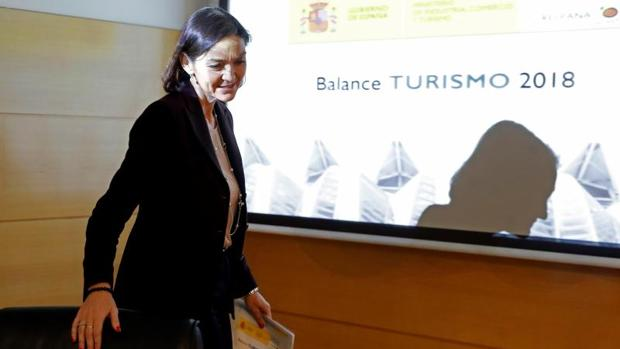 Presentación de los datos de turismo de 2018 por parte de la ministra de Industria y Turismo
