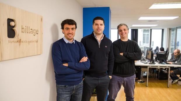 Los fundadores de Billage, Pau Buixeda, Antoni Guitart y Francisco Philip