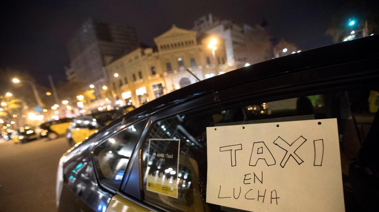 La huelga de taxis, en directo