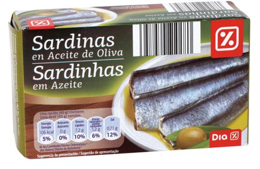 Dia ha retirado casi 25.000 latas de sardinas en aceite de oliva