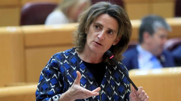 La ministra Teresa Ribera, la semana pasada en el Senado