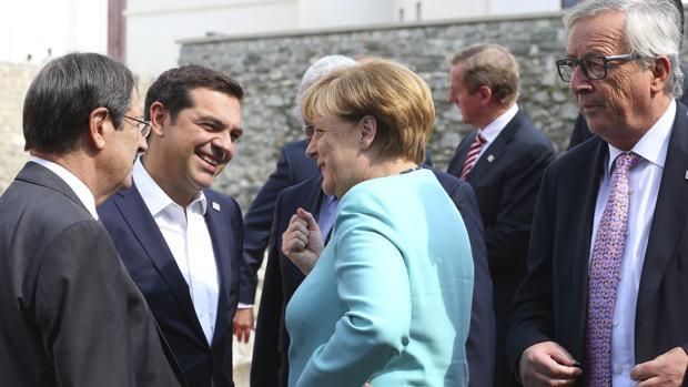 Dirigentes de la Eurozona durante una cumbre