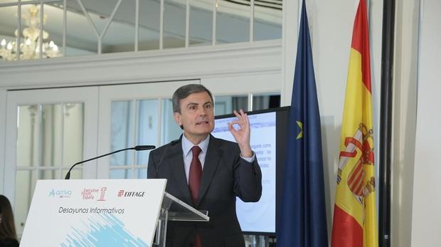 El número dos de Fomento, Pedro Saura, durante su intervención en el Foro de este martes