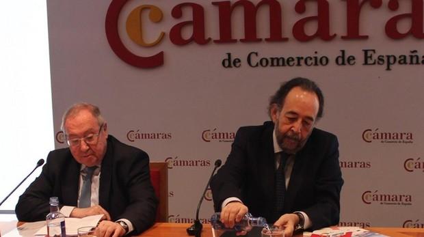 El presidente de la Cámara de España, José Luis Bonet, y el de la Comisión de Digitalización de la institución, Carlos López Blanco