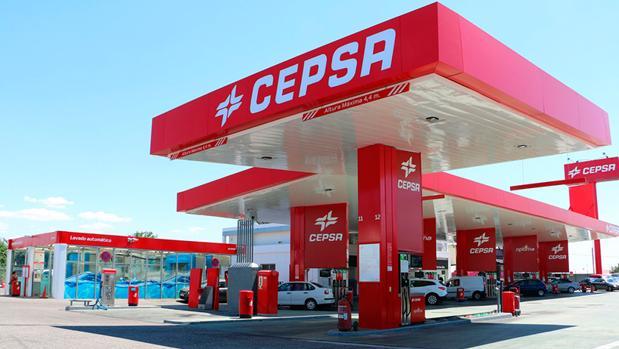Estación de servicio de la petrolera en Madrid