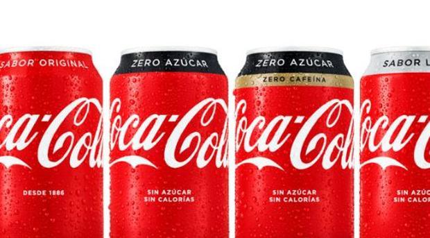 Latas de Coca -Cola