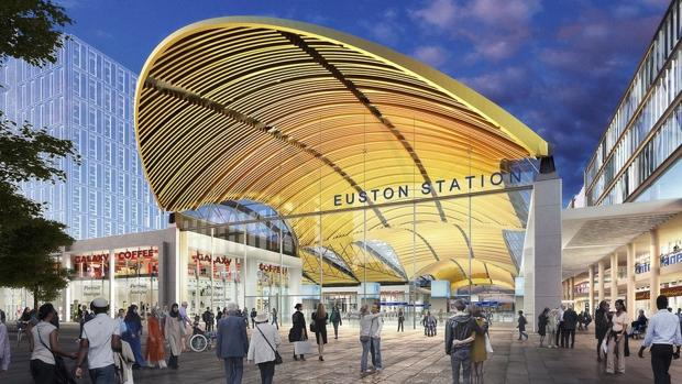 Nueva estación de Euston, Londres, para el tren de alta velocidad