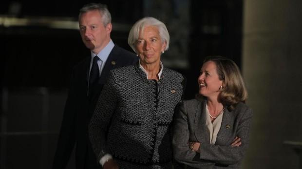 La directora gerente del FMI, Christine Lagarde, y la ministra de Economía, Nadia Calviño
