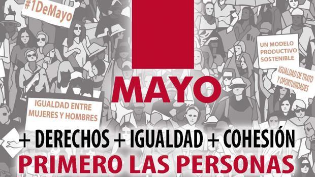 Cartel de la convocatoria del Primero de Mayo