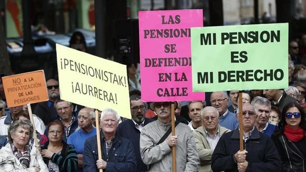 Protestas de los jubilados en Bilbao