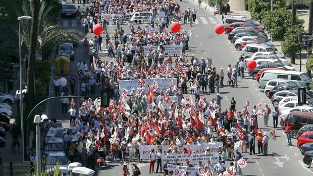 Manifestación de los sindicatos por el Día de los Trabajadores en Córdoba