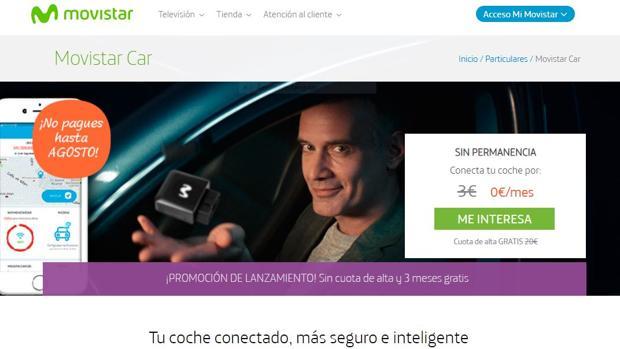 Página web de Movistar Car