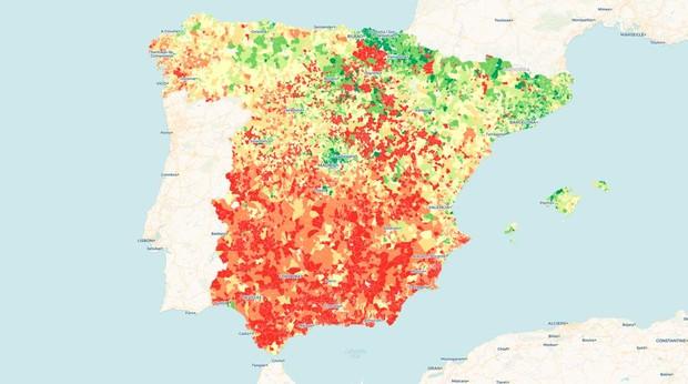¿Cuánto dinero gana tu vecino? El mapa de la renta en España, calle a calle