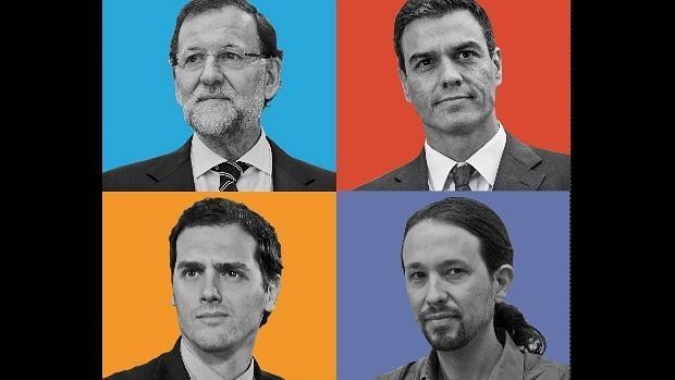 Resultat d'imatges de podemos PP PSOE ciuadadanos