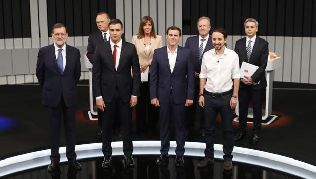 Los candidatos, en el plató
