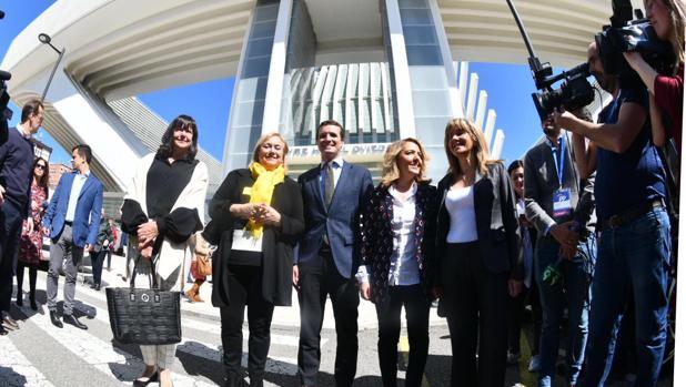 Pablo Casado, a su llegada a Oviedo
