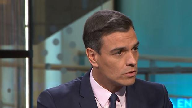 Pedro Sánchez durante la entrevista en Antena 3.