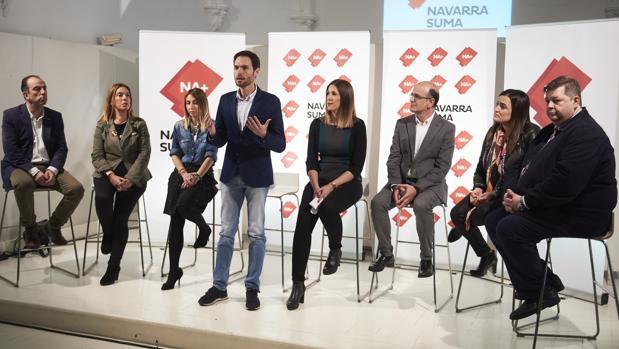 Presentación de candidatos de Navarra Suma, en marzo