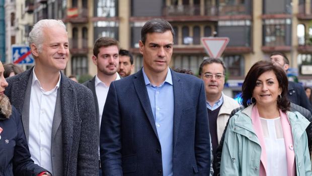 El secretario general del PSOE y presidente del Gobierno de España, Pedro Sánchez, en Logroño