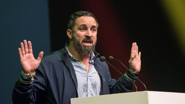 Santiago Abascal, ayer en Palma de Mallorca