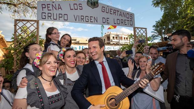 Pablo Casado en un acto de la campaña electoral de las elecciones generales 2019