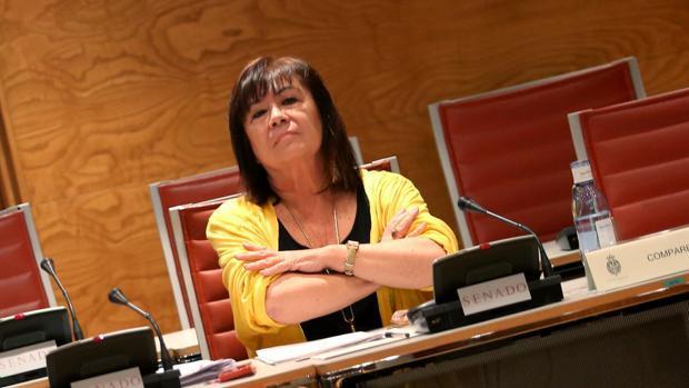 La presidenta del PSOE en la comisión del Senado el 26 de junio de 2018