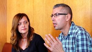 Elisa y Jorge, durante la entrevista