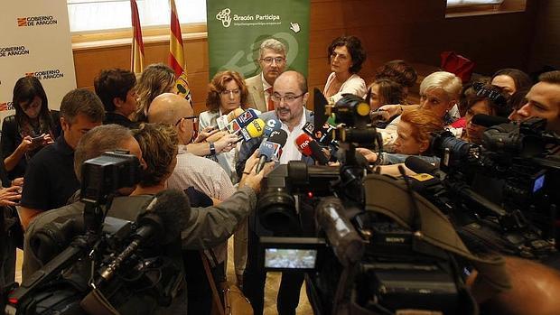 Javier Lambán, presidente del Gobierno aragonés