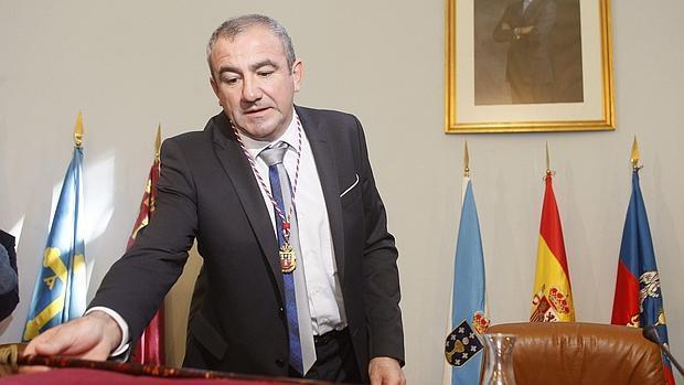El presidente de la Diputación, Darío Campos, en su toma de posesión