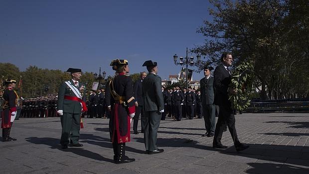 Rajoy, en el homenaje a la bandera