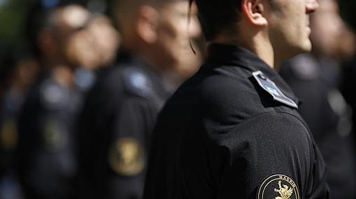 Un miembro de las UCS de la Policía Municipal