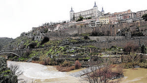 Vista de uno de los pantanos del Tajo en Castilla-La Mancha