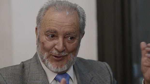 Julio Anguita, durante la entrevista
