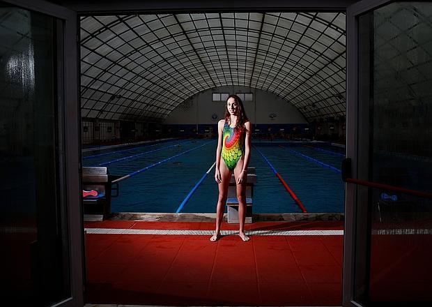 Ana María Martínez posa en la piscina del FERCA