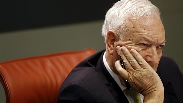 El ministro de Exteriores, José Manuel García Margallo, tras una reunión con su homóloga colombiana