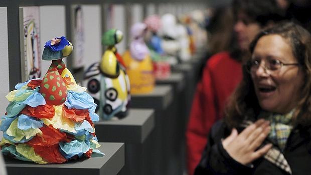 Imagen de algunas de las obras que componen la muestra de la Fundación Bancaja