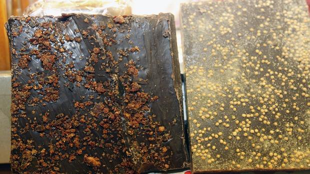 Turrones de jamón ibérico y de boletus