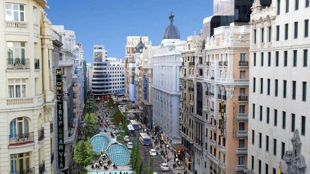El «selvático» proyecto para soterrar los coches de la Gran Vía que soñó Madrid