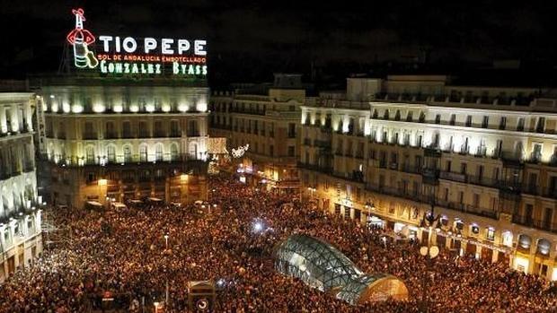 Madrid regular el flujo de personas en la puerta del sol for Puerta de sol en directo